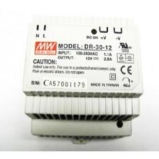 Alimentator pulsatoriu 24W, 12VDC MEAN WELL #DR30-12
