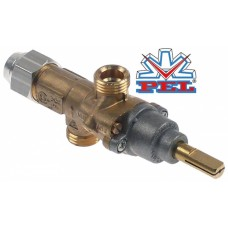 Robinet gaz PEL 20S intrare gaz M16x1,5 (ø tub 10mm) racord termocuplă M8x1 #104774