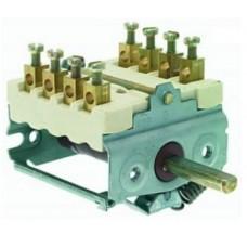 Comutator (selector) 2 poziti 0-1 4NO 16A ax ø6x4.6mm #300080