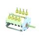 Comutator (selector) cu 4 pozitii (0-1-0-1), 4NO, 16A, ø6mm #300021