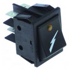 Buton basculant 30x22mm iluminat led orange #346108